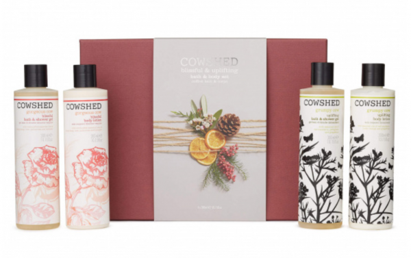Christmas Gift Blissful and Uplifting Bath & Body Set, 4x 300ml