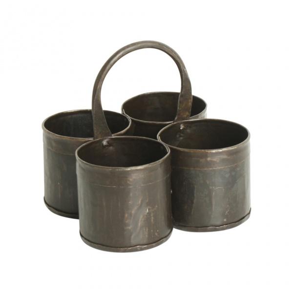 Eisenhalter / Kräutertopf Vierfach