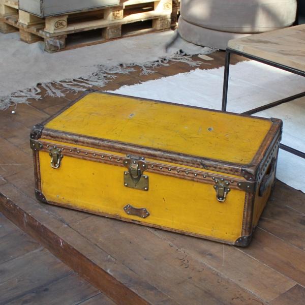 Reisekoffer, Louis Vuitton, vintage gelb