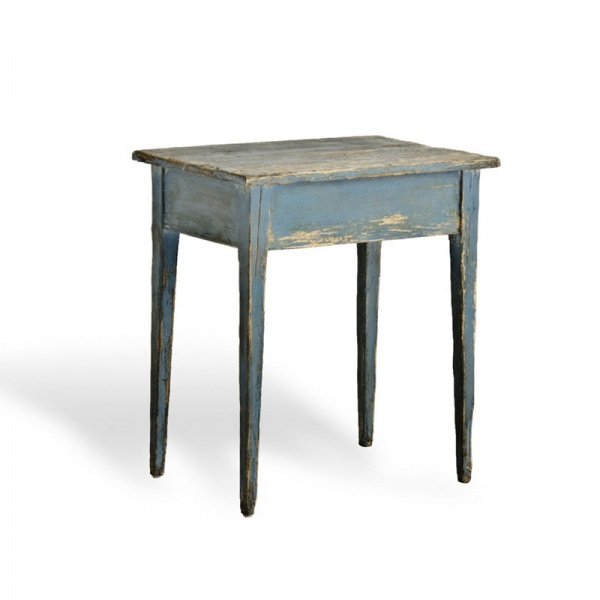 Side Table With Blue Paint Ralph Lauren Home (61x45x69cm)