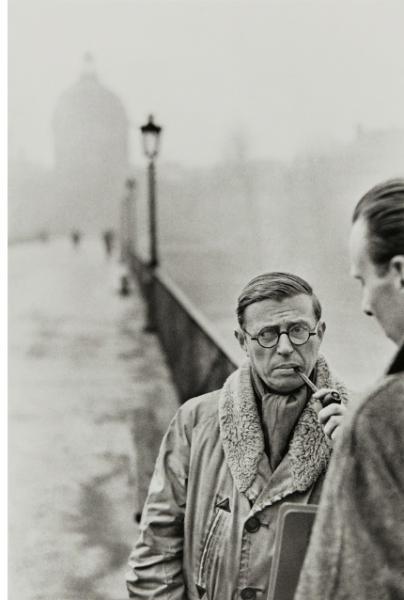 Henri Cartier-Bresson, Jean-Paul Sartre, Le Piont des Arts, Paris