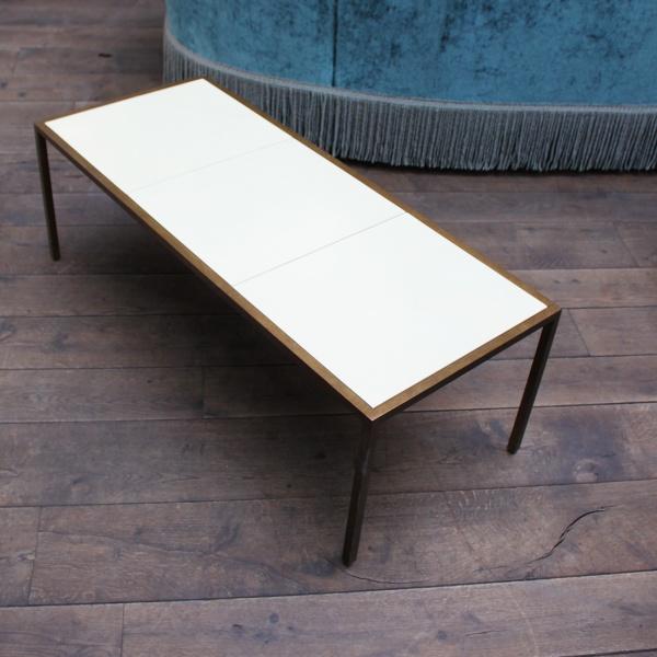 Felix coffee table, metal and vellum, von CHICHESTER