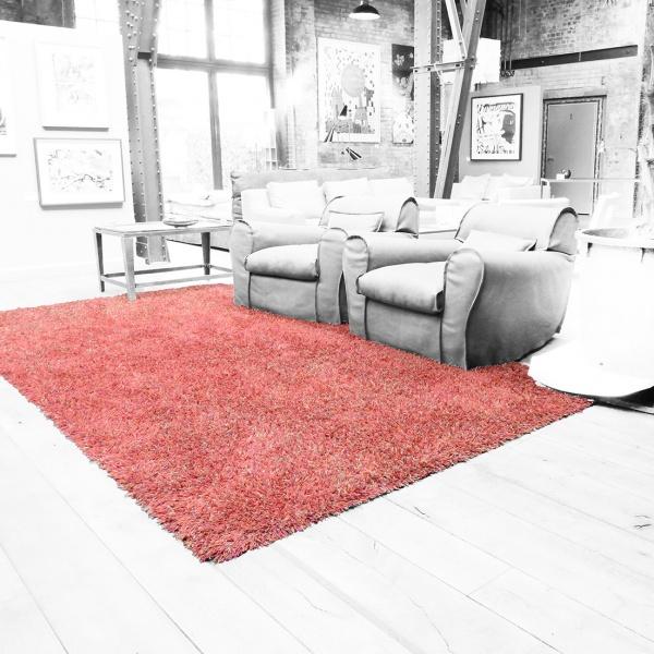Teppich, Handgeknüpft, orange/rost, 3,70x2,10