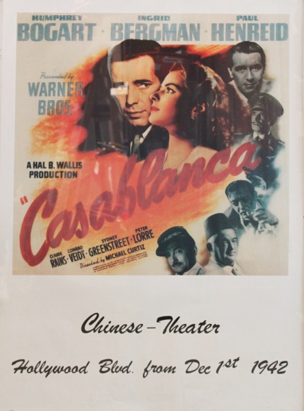 Filmplakat - Casablanca (Chinese Theater)