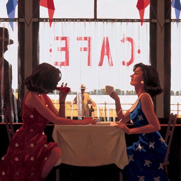 JACK VETTRIANO, Café Days, 80x60 cm