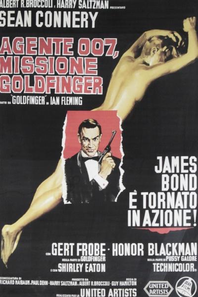 Filmplakat - Agente 007 Missione Goldfinger