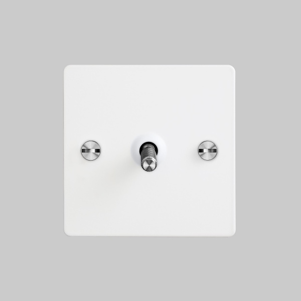 BUSTER + PUNCH - 1G INTERMEDIATE TOGGLE SWITCH / WHITE / STEEL