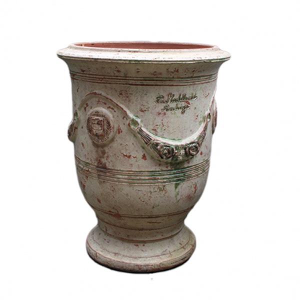 Madeleine la poterie - Anduze vase patinas acienne - Groß