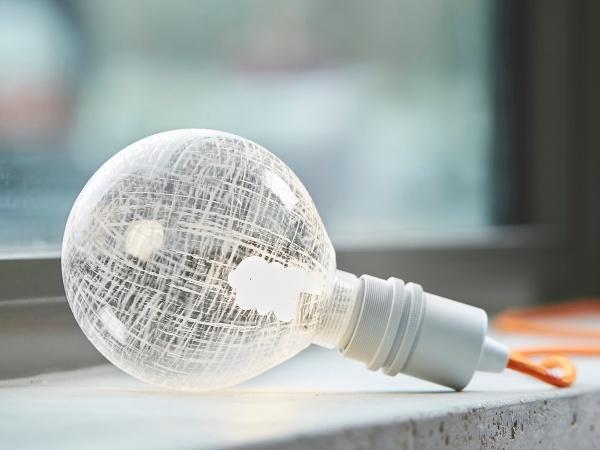 Bulb Globe Glass checked Energysaving 100 mm
