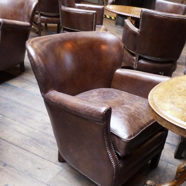 Professor Chair Leder: Vintage Cigar
