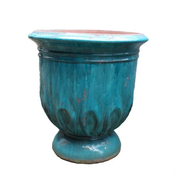 Madeleine la poterie - Vase tulipe patine tuquoise