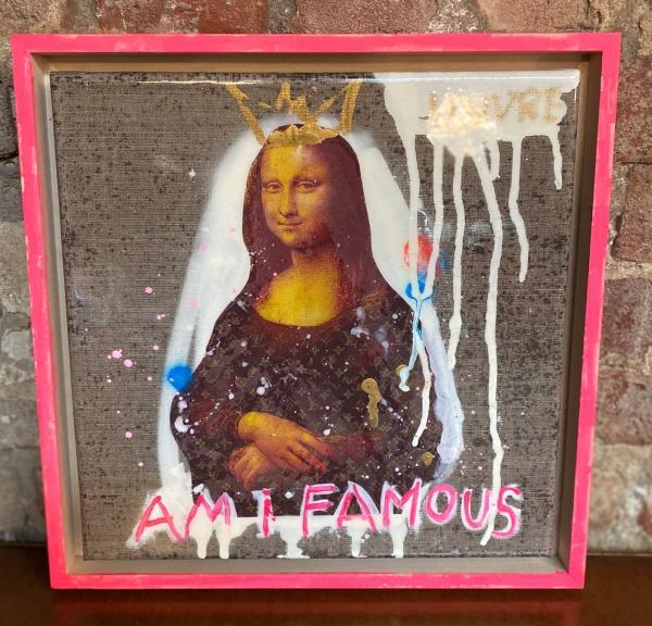 Kristin Kossi, Am I Famous Mona Lisa (35x35cm)