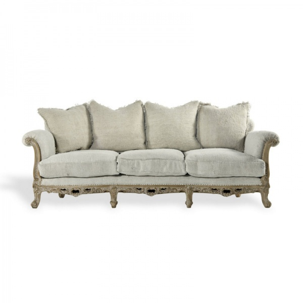 Camelback Carved Sofa Ralph Lauren Home (206x94x84cm)