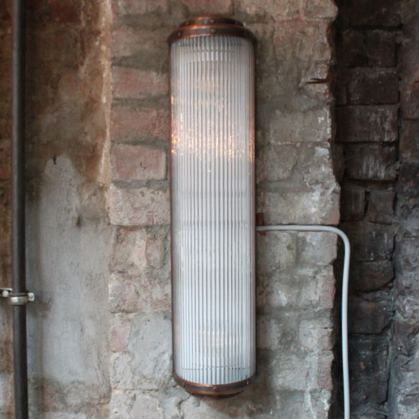 Greenwich Corrugated Glass Light