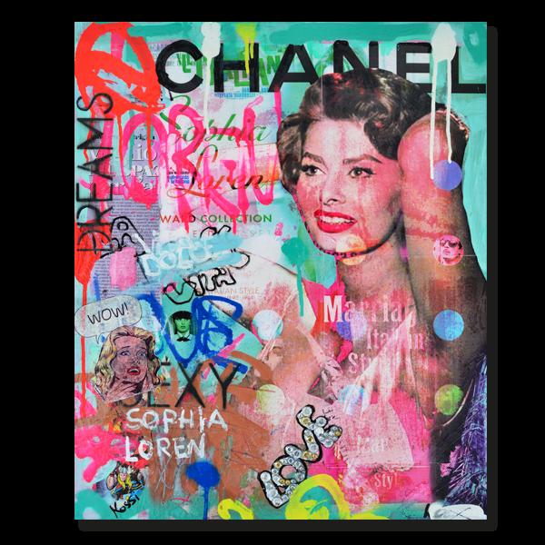 Kristin Kossi, Chanel Loren (50x60cm)
