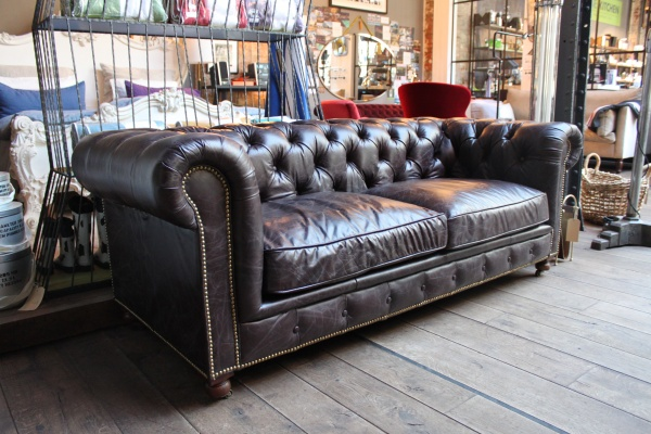 Timothy Oulton Kensington Sofa 2,5 Sitzer - Biker Dark Brown